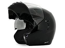 Vega Boolean Flip-up Helmet with Double Visor (Black, M)