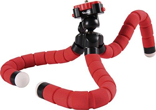 Rollei Monkey Pod Treppiede da Tavolo Flessibili, Compatible con DSLR, DSC, Videocamera e Smartphone, Rosso
