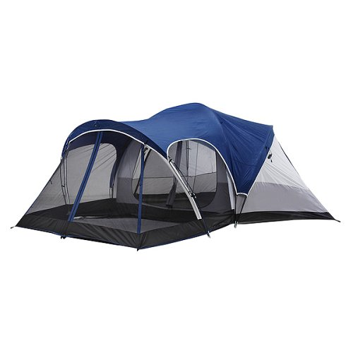 Tent has drymark waterproofing system that keeps you dry! This includes a water repellent shell sealed floor seams and a elevated floor.  sc 1 st  Purchase Tents Online & Purchase Tents Online: Greatland® 2-Room Dome Tent - Blue/ Black