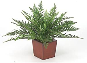 Silk Marsh Fern Desk Top Plant in Planter