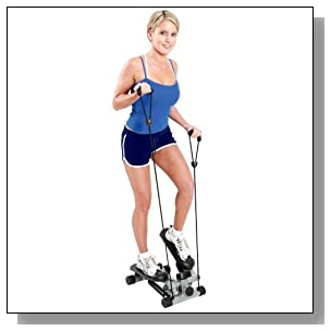 Milex Health & Fitness Mini Stepper with Resistance Bands