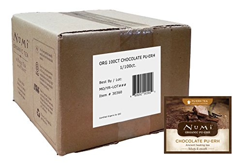 Numi Organic Chocolate Pu-erh Tea , 100 Count Full Leaf, non-GMO, Bulk Tea Bags (Numi Chocolate Puerh compare prices)