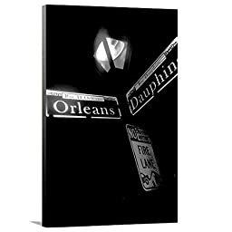 Artzee Designs Home Decor Ready to Hang Great Gift Idea Travel Louisiana New Orleans Street Sign Canvas Photography Wall Art, 24\