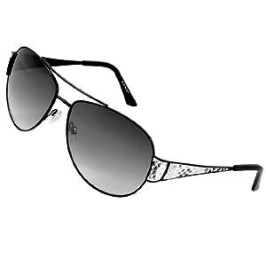 Glasses Frames Wide Bridge : Amazon.com : Black Snake Print Wide Arms Metel Full Frame ...