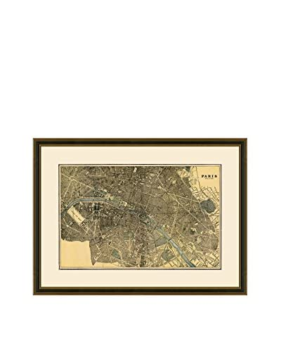 Antique Map of Paris, 1883-1903