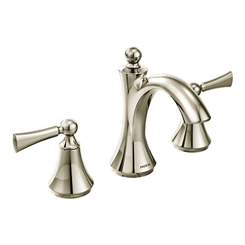 Moen T4520NL Wynford Two-Handle High Arc Bathroom Faucet, Polished Nickel (Polished Nickel Bathroom Faucet compare prices)