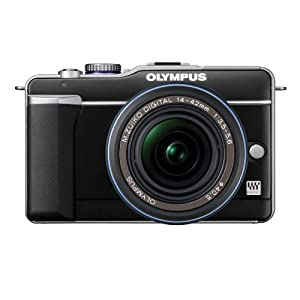 Olympus PEN E-PL1 12.3MP Live MOS Micro Four Thirds Interchangeable Lens Digital Camera with 14-42mm f/3.5-5.6 Zuiko Digital Zoom Lens (Black)