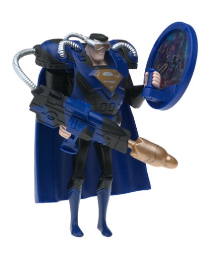 Justice League Black Suit Superman Mission Vision Action Figure - 1