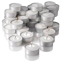 Insasta Micro 100 pcs pack of Tea Light Candles smokeless 3.5 hrs burning