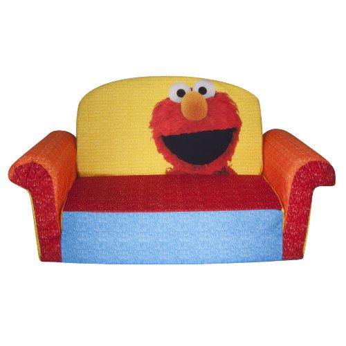 Marshmallow Children's Furniture – 2 in 1 Flip Open Sofa – Sesame Street Elmo image