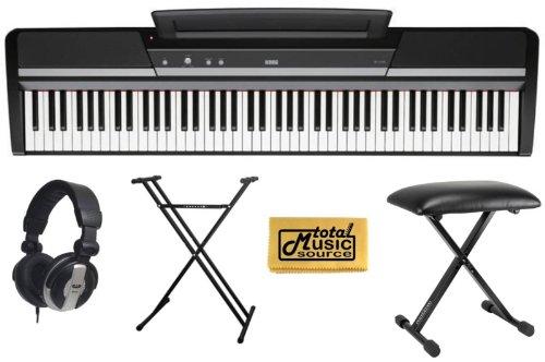 Korg Sp170S 88 Key Digital Piano Black,Korg Sp170Sbk - 88 Key Digital Piano Package Includes: - Korg Sp170S Black Piano - Piano Stand - Piano Bench - Pro Headphones - Tms Polishing Cloth