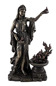 Amazon.com: Greek Goddess Hestia Bronzed Statue Roman ...