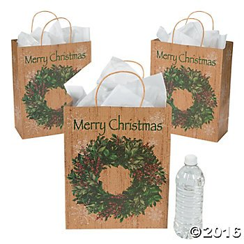 large-holiday-wreath-kraft-paper-gift-bags-two-dozens