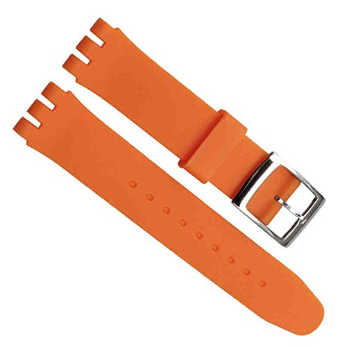 greenolive-19mm-replacement-waterproof-silicone-rubber-watch-strap-watch-band-orange
