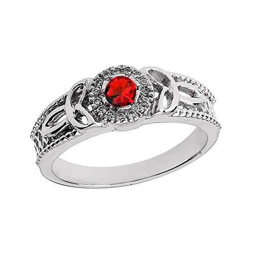 14k-White-Gold-Ruby-and-Diamond-Ladies-Trinity-Knot-Proposal-Ring