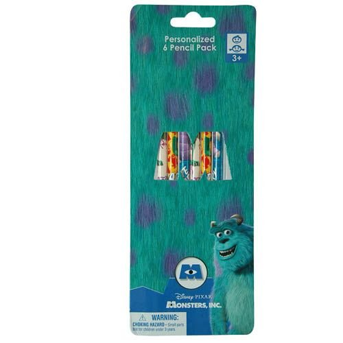 Monsters University 6pk Wood Pencil on Reverse Blister Card