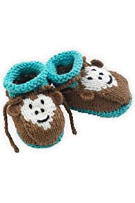 Joobles Organic Baby Booties - Mel the Monkey