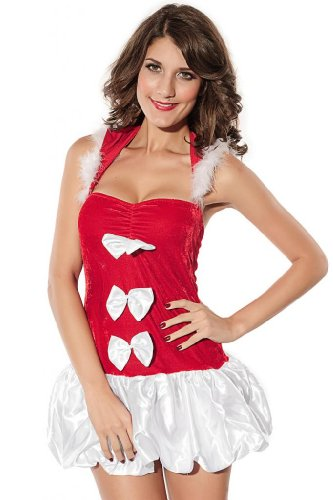 Dear-Lover Women's Santas Doll Christmas Lingerie