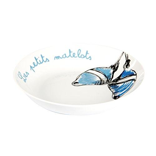 Delys-By-Verceral 514355 Lot de 6 Assiettes Creuse Porcelaine Bleu 20 cm