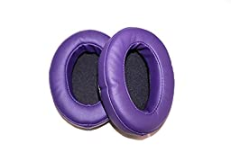 Brainwavz Replacement Memory Foam Earpads - Suitable For Many Other Large Over The Ear Headphones - AKG, HifiMan, ATH, Philips, Fostex (Dark Purple)