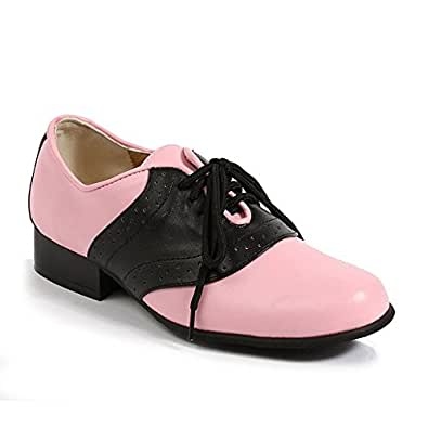 Womens Saddle Black And Pink Leather Shoes size 9