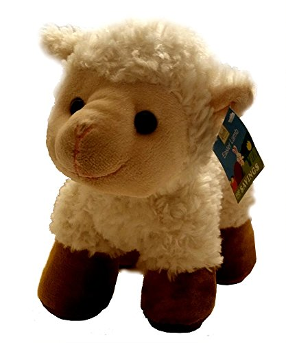 1 Pc. Unique Cuddly Soft Easter Toy Lamb in Cream & Brown Curly Fur Unisex
