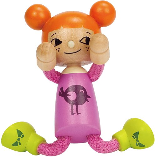 Hape Happy Family Poseable Wooden Youngest Daughter Play Doll - 1