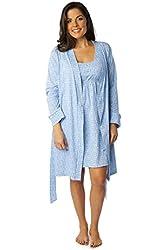 Baby Be Mine Maternity/Nursing Sleeveless Nightgown & Robe Set