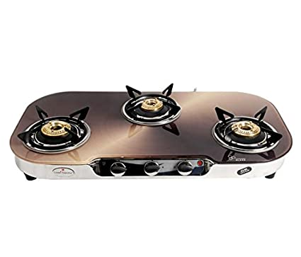 kia Model Glass Top Gas Cooktop (3 Burner)