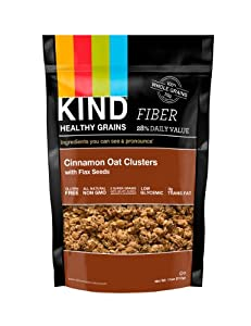 KIND Healthy Grains Clusters, Cinnamon Oat with Flax Seeds, 11-Ounce Bags, 3 Count, Frustration Free Packaging