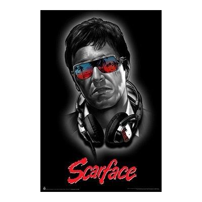Scorpio Scarface Headphones Poster Print (Cult Headphones compare prices)