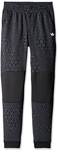 adidas Originals Boys Junior Sport Luxe Printed Moto Jogger Pants, Black, X-Large