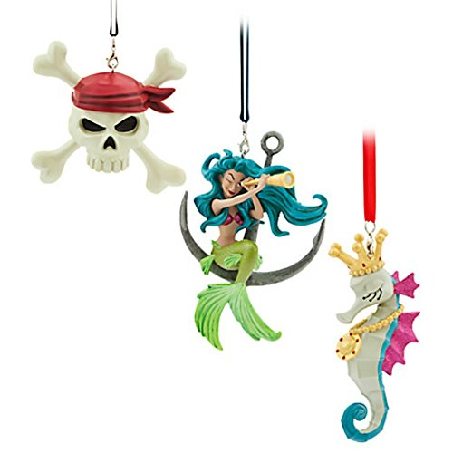 Disney Pirates of the Caribbean Icon Christmas Holiday Ornament Set