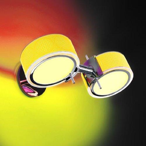 Cini & Nils Componi200 due Set E Applique Murale chromé avec 2 anneaux jaunes