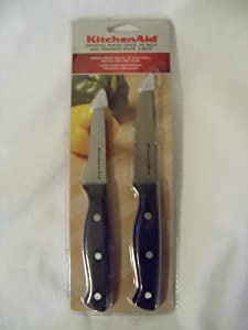 KitchenAid 2 Piece Serrated Paring Knife and Trimming Knife