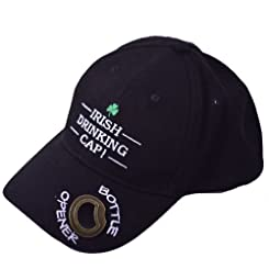 Liffey Artefacts-Mens Baseball Cap-Irish Drinking Hat-Bottle Opener