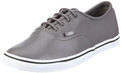 Vans U AUTHENTIC LO PRO VGYQLAL, Baskets mode mixte adulte - Gris ((Leather) Grey), 35 EU