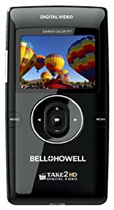 Bell+Howell Take2HD T200-BK Camcorder with HD Recording, 1x Optical Zoom and 2-Inch LCD Screen (Black)