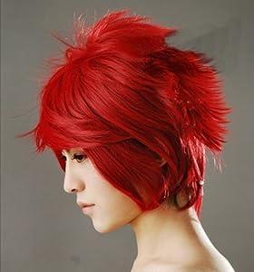 Yu look® Dark Red Anti-Alice Short Hair Cosplay Wigs