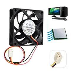 12V Internal Desktop Computer CPU Case Cooling Cooler Master Silent Fan 7cm -