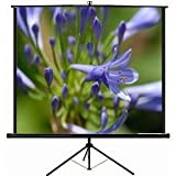 """New VIVO 84"""" Portable Projector Screen, 84 Inch Diagonal Projection HD 4:3 Projection Pull Up Foldable Stand Tripod (PS-T-084 by VIVO)"""