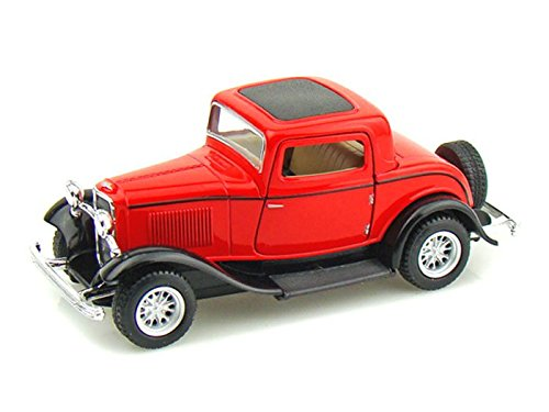 1932 Ford 3-Window Coupe 1/34 Red