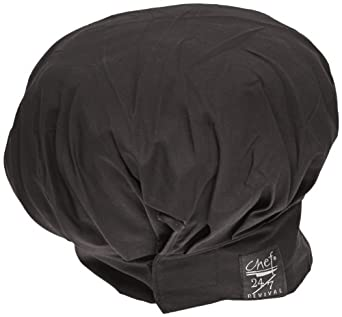 Chef Revival H400BK Poly Cotton Chef Hat, 13-Inch, Black