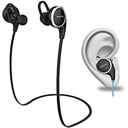 VanDeSaiL Noise Canceling Wireless Bluetooth 4.1 Sport Headphones - Black