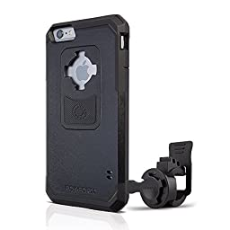 Rokform iPhone 6/6s PLUS Sport Series Quad Tab, Twist Lock, Universal Bar Mount holder kit for Bikes, Strollers and more with iPhone 6/6s PLUS rugged protective case