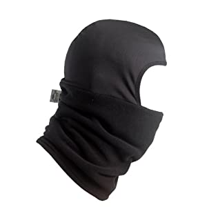 Turtle Fur - Shellaclava, Heavyweight Micro Fur Fleece Balaclava, Black