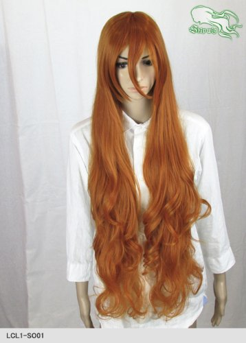 スキップウィッグ 魅せる シャープ 小顔に特化したコスプレアレンジウィッグ ドーリィロング オレンジブラウン