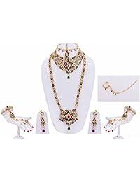 Purple Green Star Bridal Jewellery Set