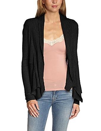 Esprit 994EE1I903 - Gilet - Uni - Manches longues - Femme - Noir (Black) , FR: S (Taille fabricant: DE XS)