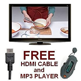 "Panasonic TC-L32X2 32"" Class Viera X2 Series LCD - FREE HDMI Cable + MP3 Player"